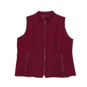 New Directions Burgundy Vest Size XL